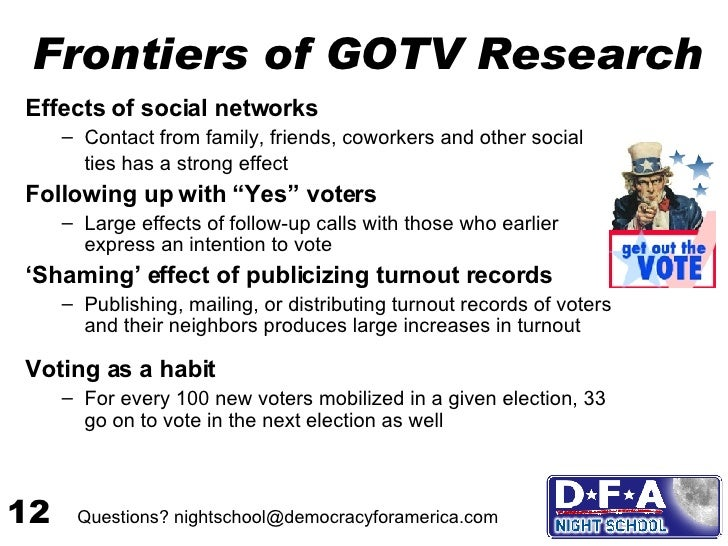 an analysis of the influence of media on the voter turnout Communication efficacy and voting the influence of media reliance in voting decisions mass media and voter turnout in r w preiss, b m gayle, n.