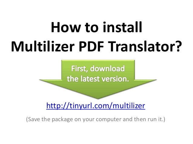 Multilizer Pdf Translator + Serial