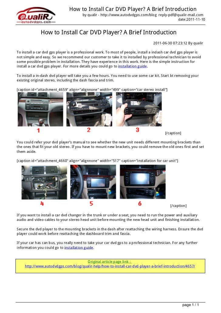 How to Install Car DVD Player? A Brief Introduction                                                                       ...