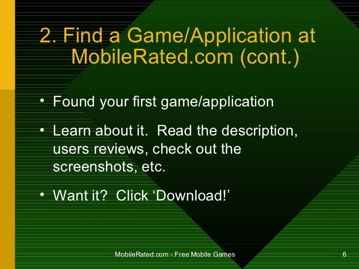 How To Install Free Mobile Phone Games