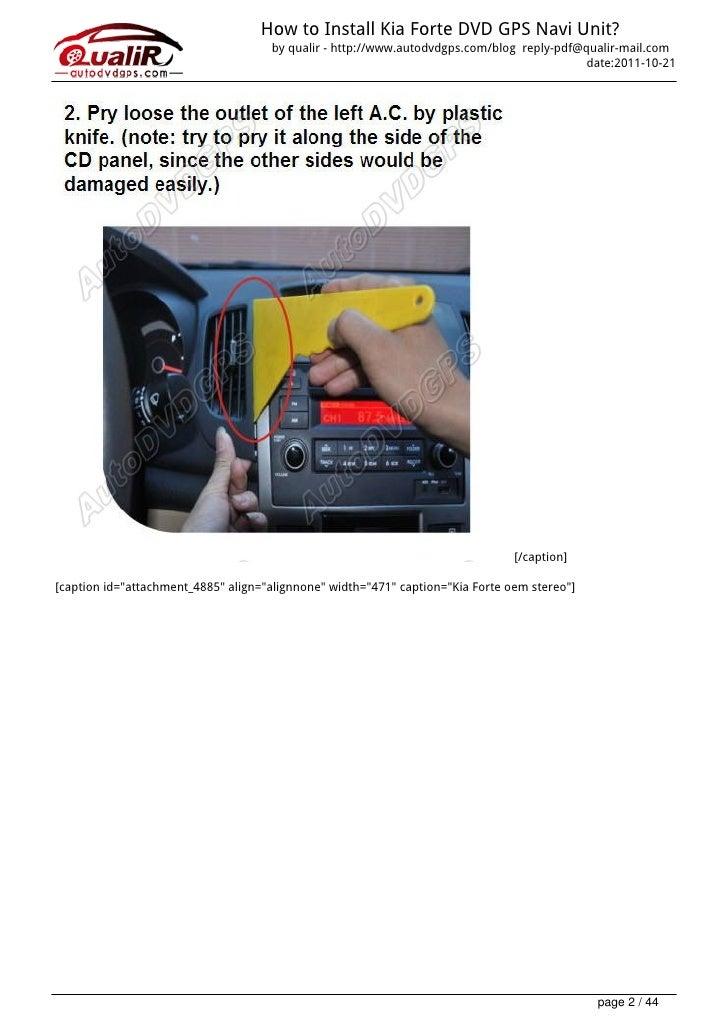 How to install kia forte dvd gps navi unit guides how to install kia forte freerunsca Images