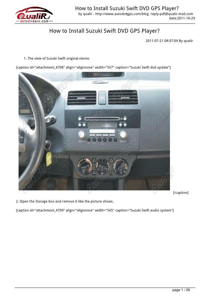 How to Install Suzuki Swift DVD GPS Player?                                        by qualir - http://www.autodvdgps.com/b...