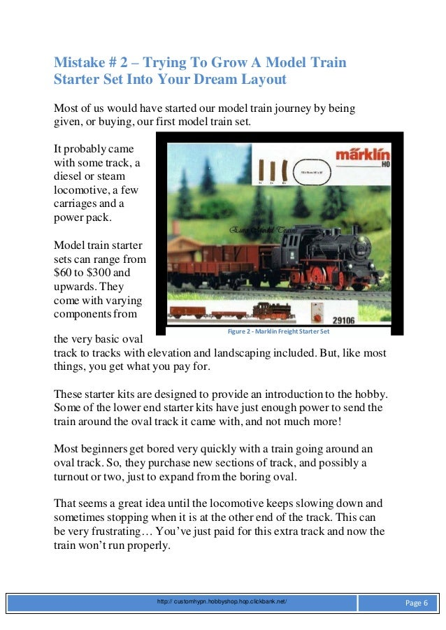 Ways to Avoid Errors Involving Train Layouts and Model Train Scenery