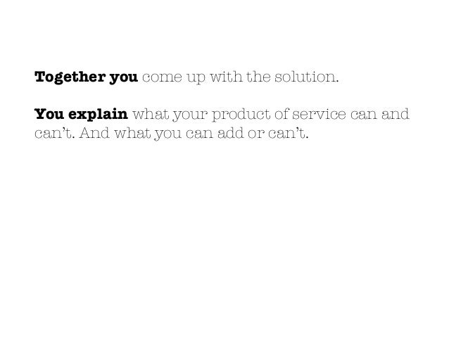 YOUR PRODUCTTHEIR PROBLEM