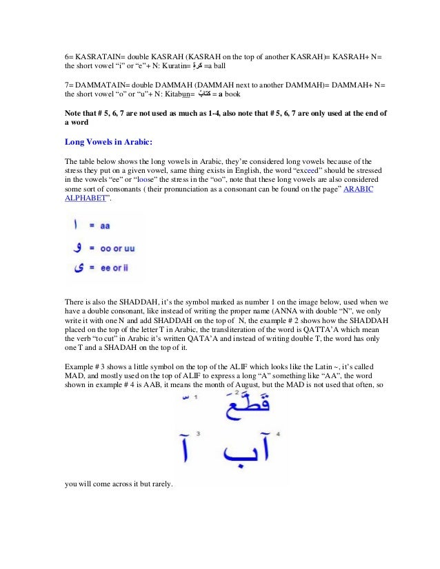 How To Learn Arabic From English