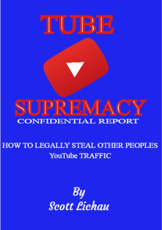 HOW TO LEGALLY STEAL OTHER PEOPLES YOUTUBE TRAFFIC... ..........................................................3 WHAT NOB...