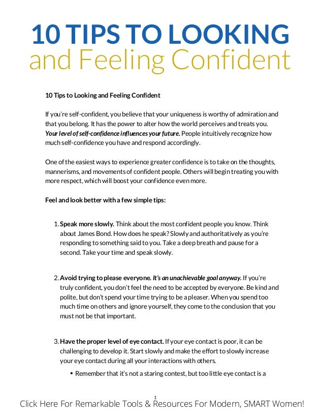 How to look confident and beautiful 10 tips to looking and feeling confident 10 tips to looking and feeling confident if you ccuart Images