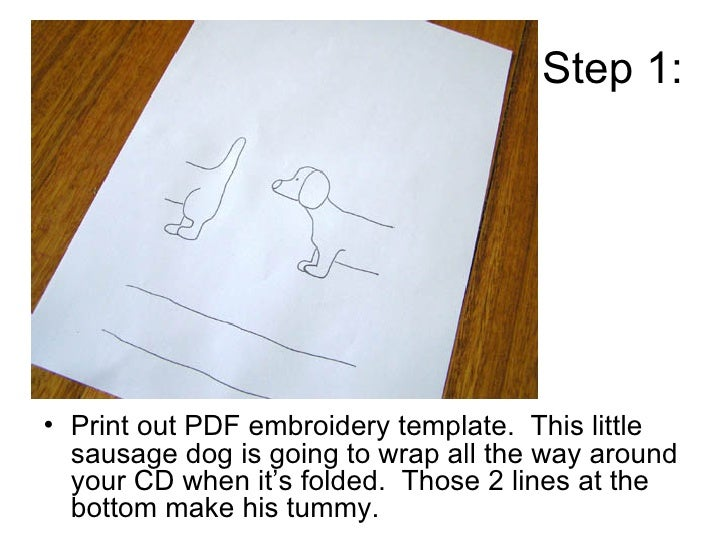 how to make a sausage dog cd cover
