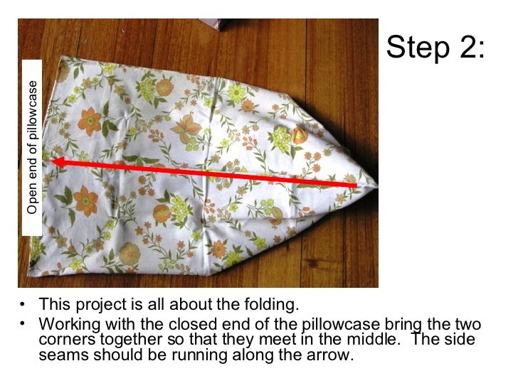 How To Make A Shoulder Bag From A Pillowcase Slide 3