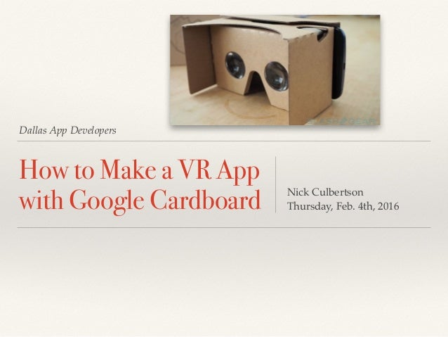 how to make a vr app with google cardboard with unity. Black Bedroom Furniture Sets. Home Design Ideas