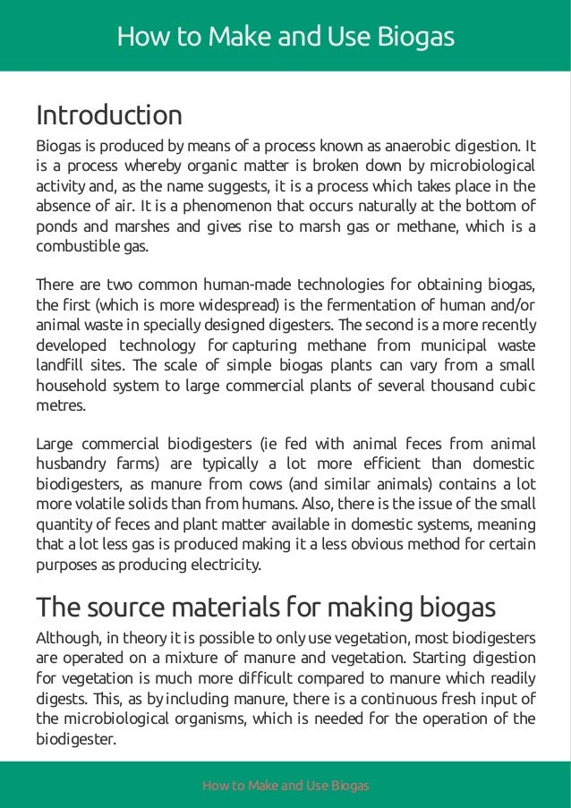 How to make and use biogas