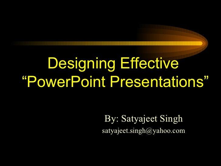 How to make effective presentation