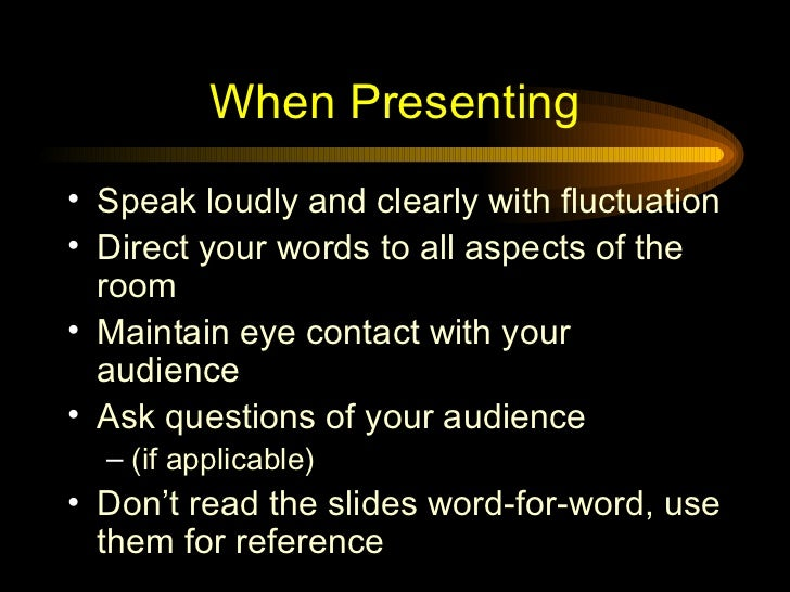 another word for presenting