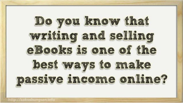 How to Make Extra Money Online Writing and Selling eBooks Slide 3