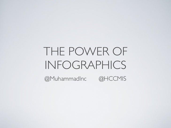 THE POWER OFINFOGRAPHICS@MuhammadInc   @HCCMIS