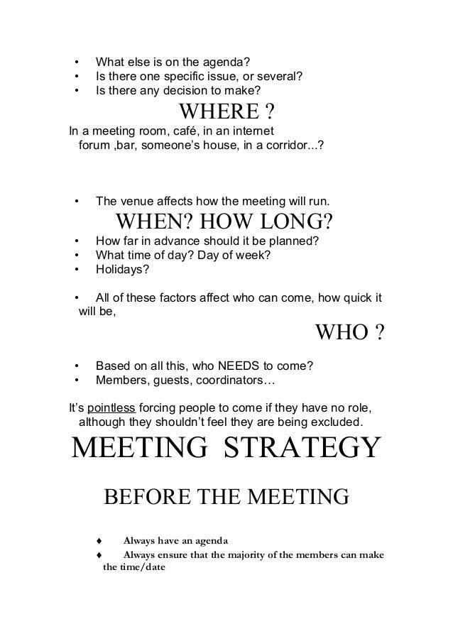How to make meetings work- Zied MHIRSI