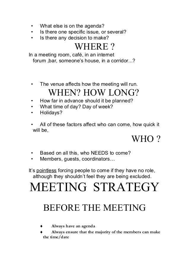 how to make an agenda for a meeting