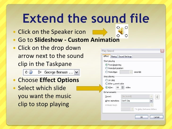 How To Make Music Play Through A PowerPoint 2003 Presentation