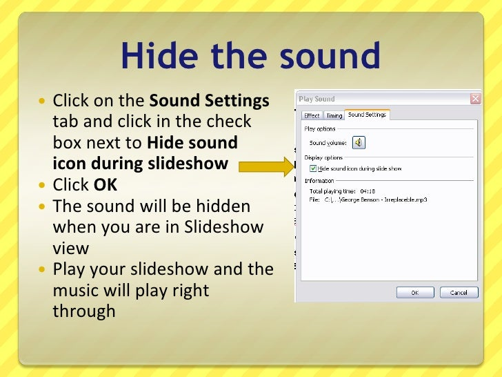 How to make picture presentation with music in powerpoint