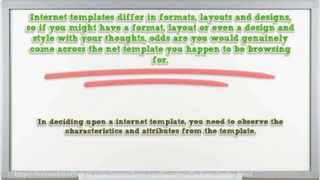 In deciding upon 8 internet template,  you need to observe the characteristics and attributes from the template.