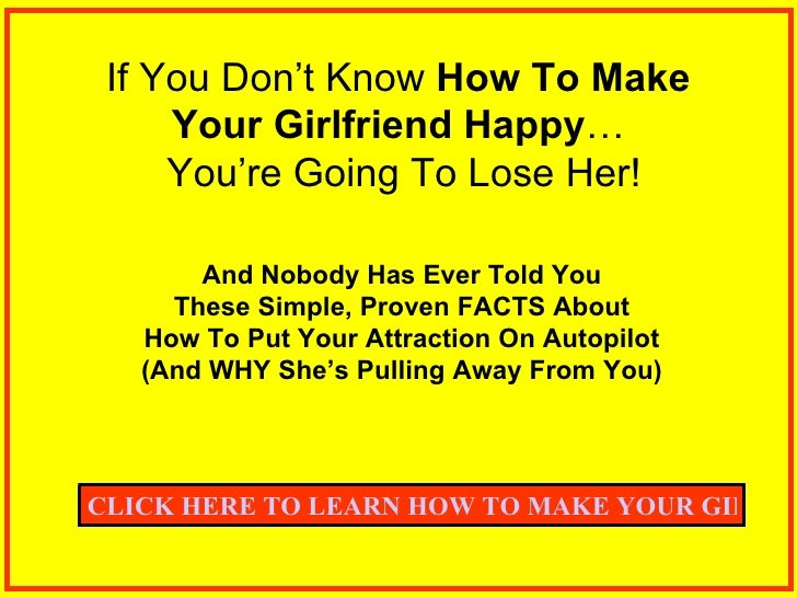 ideas to make your girlfriend happy