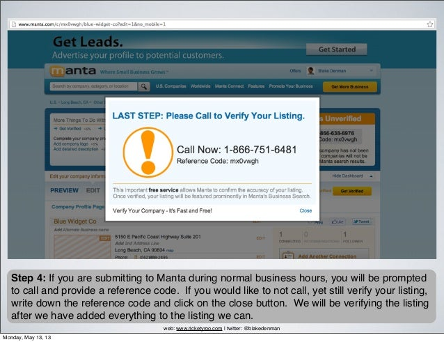 manta business reports