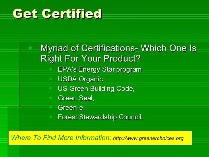 Building Code For Certified Organic