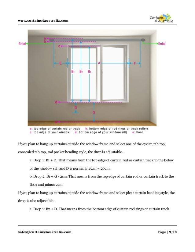 how to measure curtains and rods curtains 4 australia. Black Bedroom Furniture Sets. Home Design Ideas