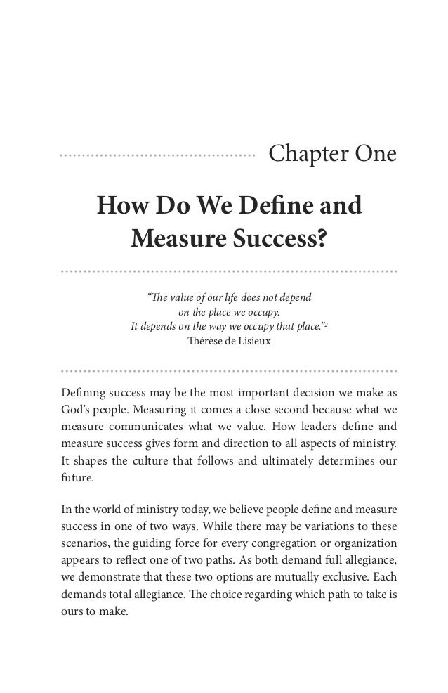 Captivating Chapter One How Do We Define And Measure Success? Throughout How Do You Evaluate Success
