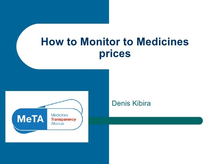 Denis Kibira How to Monitor to Medicines prices