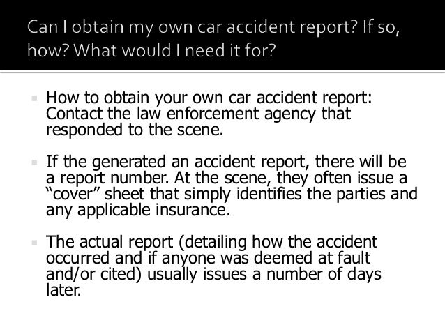 how to obtain your own phoenix car accident police report
