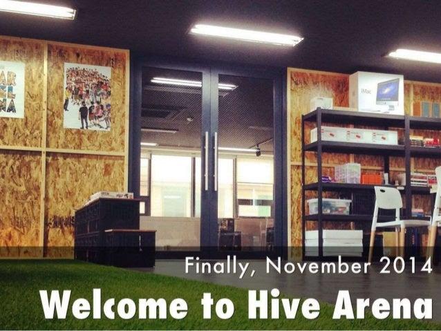 ° 'I il V 1 1;' Finally,  November 2014  Welcome to Hive Arena