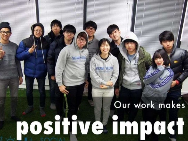 Our work makes  lositive impart