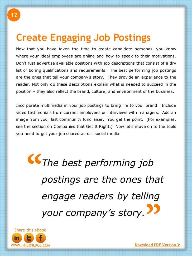 job posting examples