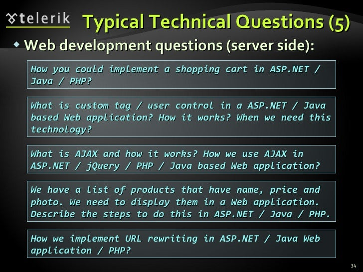 typical technical questions  5  web