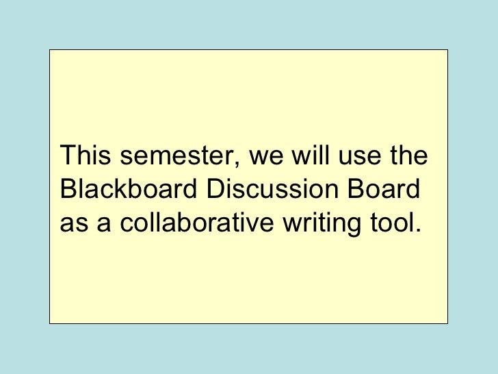 how to create a discussion board on blackboard