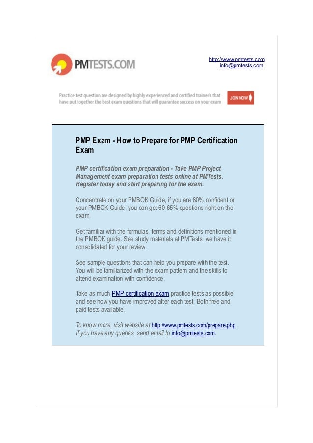 Pmp Exam How To Prepare For Pmp Certification Exam