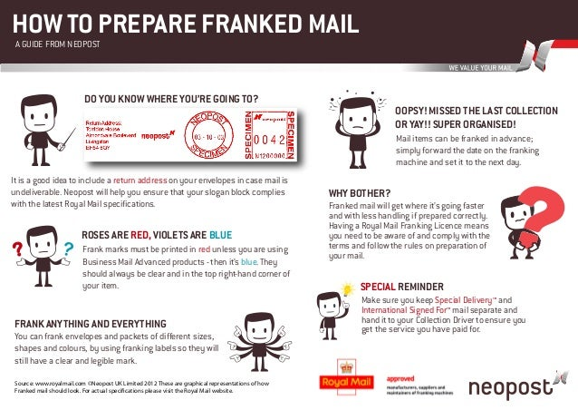 HOW TO PREPARE FRANKED MAIL A GUIDE FROM NEOPOST                          DO YOU KNOW WHERE YOU'RE GOING TO?              ...