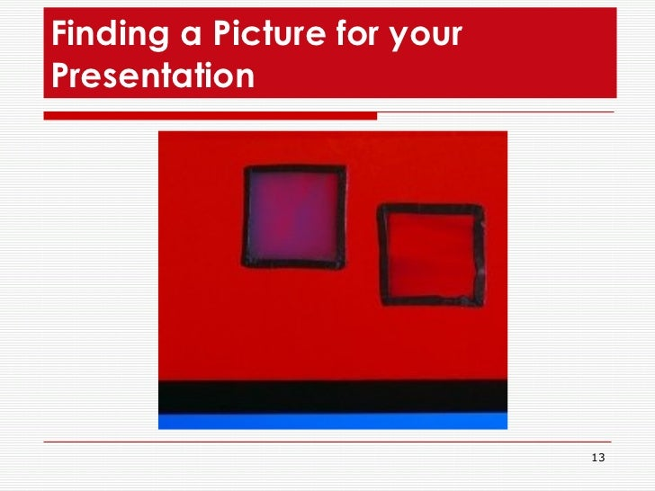 Finding a Picture for your Presentation