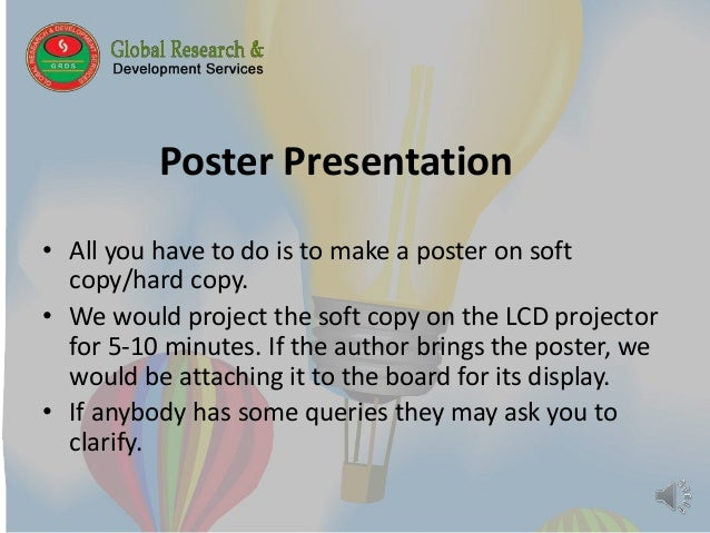 how to make research paper presentation
