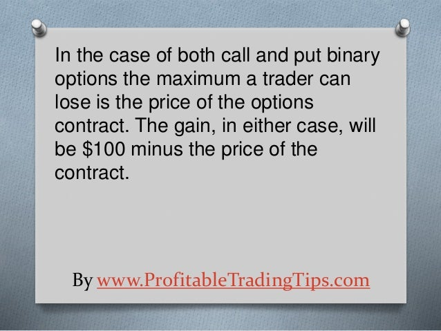 parité put call binary put option