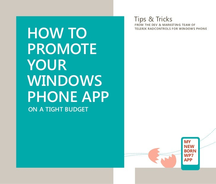 Tips & TricksHOW TO                    FROM THE DEV & MARKETING TEAM OF                    TELERIK RADCONTROLS FOR WINDOWS...