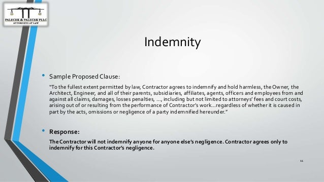 How To Protect Your Construction Business and Legal Interests – Indemnity Letter Template