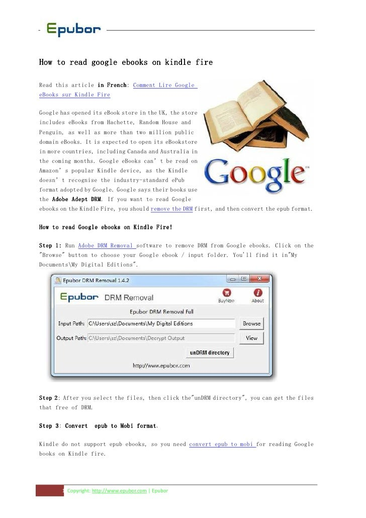 How to read google ebooks on kindle fireRead this article in French Comment Lire Google                     French:eBooks ...