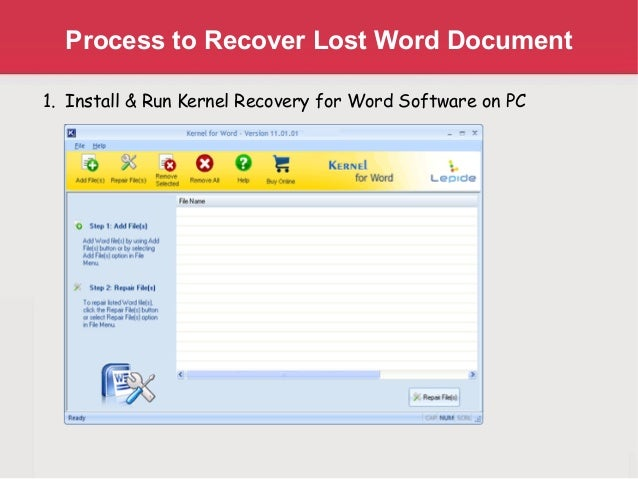 how to open word recovery files