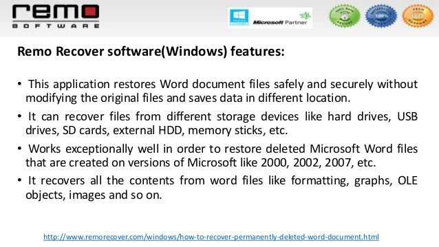 how to find deleted word documents