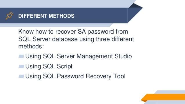 sql server password recovery tool