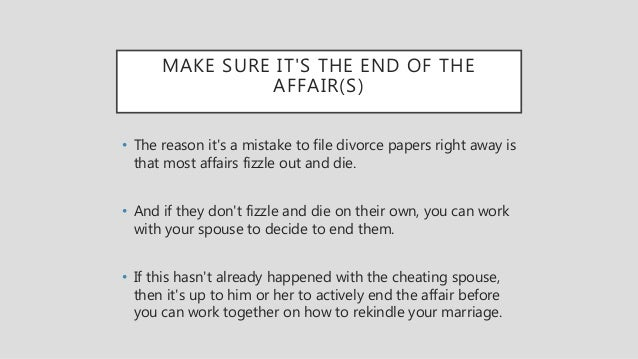How to rekindle marriage after infidelity