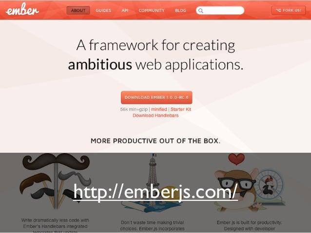 * Ember.js 関連のJSを gem で管理 * handlebars サポート * テンプレートジェネレータ Features: