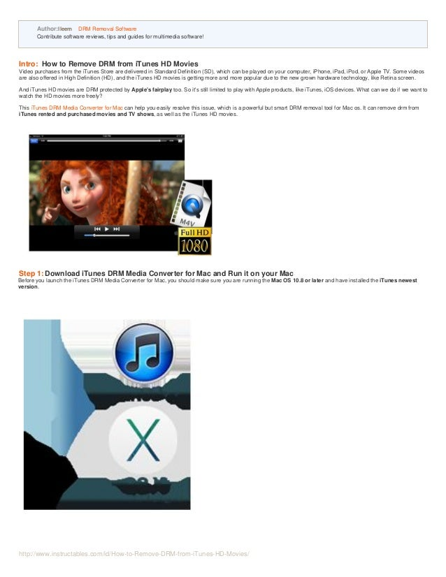 How To Remove Rented Movie From Apple Tv How to Remove DRM